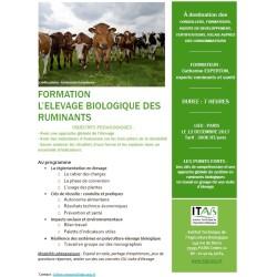 Formation L'élevage biologique des ruminants