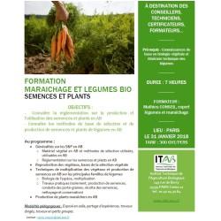 31 janvier : Maraîchage/légumes bio : semences et plants
