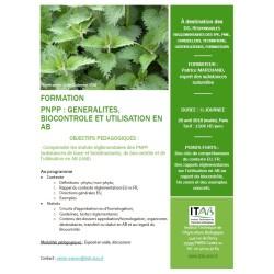20 avril 2018 : Formation PNPP : Généralités, Biocontrôle et utilisation en AB