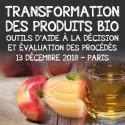 Colloque Transformation des produits bio - 13 décembre 2018 - PARIS